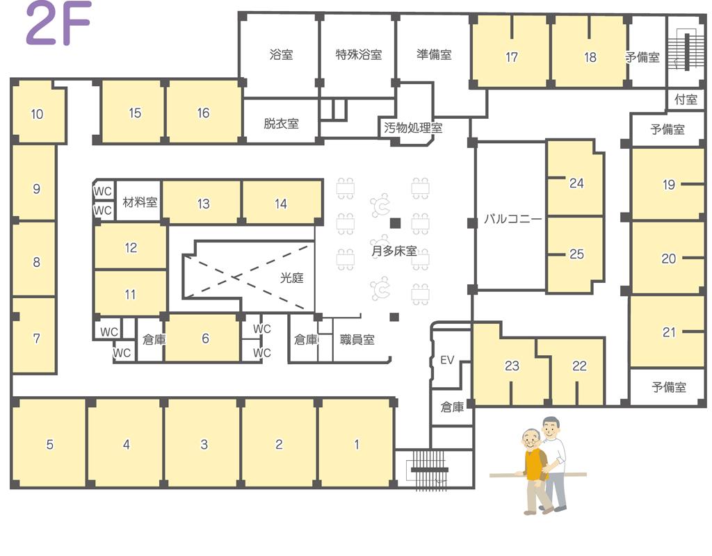 多床室2F